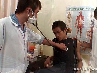 Medical Fetish Bareback Asian Threesome