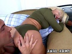 Sexy blonde Lisa Lee gets her sweet ass licked