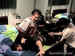Gay cowboy spanked again Kelly Beats The Down Hard