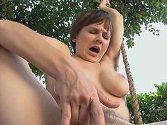Hairy Milf Masturbating In Her Cotton Panties