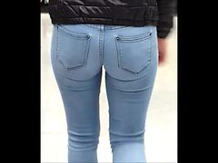 teen xith  nice little ass and pussy in tight jeans