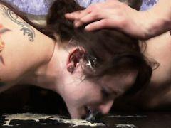 Maci May humiliating floor licking