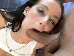 Beautiful Russian brunette vixen Natasha Nice getting fucked in a shower