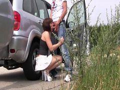 Autobahnrastplatz Schwanz leer geblasen