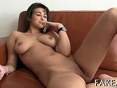 Arousing audition with sexy amazing babe