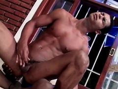Sexy Latin gay bottom ass fucked by black cock