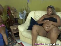 African pregnant babes having orgy