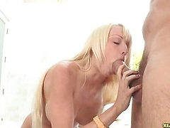 Rikki sucks cock and has her pussy and ass licked.