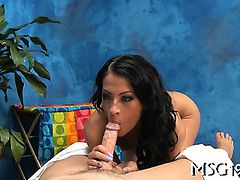 Playful hotty banged gets a facial