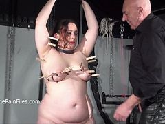 Crying fat slaveslut Nimues extreme whipping