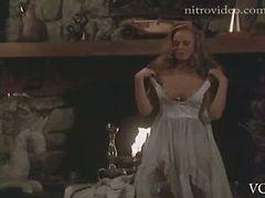 Naturally Busty Retro Blonde Jennifer Cooke Strips In a Hot Scene