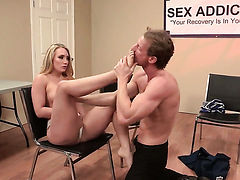 AJ Applegate gets throat fucked rough by horny guy