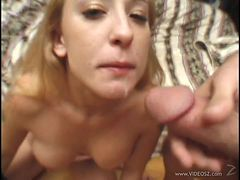 Blonde Serena Marcus Sucking Cock To Swallow Cum