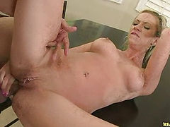 Kaylee gets her tight asshole stuffed with cock.