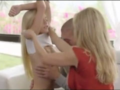 Bimbo Milf Training Her Petite Daughter