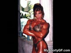 amateur Ex muscle Ex sport body builder gym body sexy Tits firm Muscled Tits real butt Lolly Po
