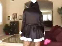pretty french maid wants her ass drilled