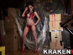 Krakenhot Casting with a hot brunette. A gift for you Part 1